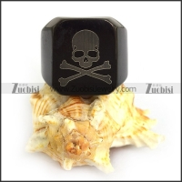 Cool Black Plating Skeleton Skull Ring r003827