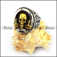 FTW Golden Skull Ring r003856