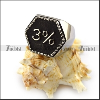 3% Hexagonal Biker Ring r004327