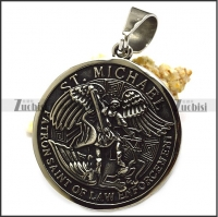anti-silver ST. Michael patron saint of law enforcement pendant p008882