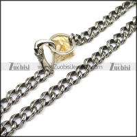 Stainless Steel Casting Jean Chain with Skull Clasp y000016