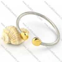 Stainless Steel Rope Bracelet - b000274