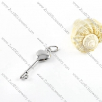 Silver Plating Key Stainless Steel Pendant - p000115