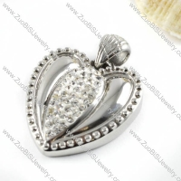 Unique Heart Stainless Steel Pendant - p000117