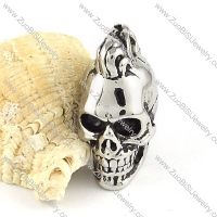 Stainless Steel Solid Big Skull Pendants -p000333