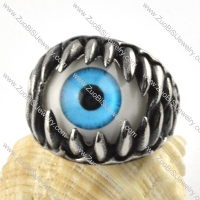 Stainless Steel Blue Wonder Eyes Ring - r000066