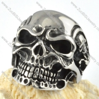 Big Stainless Steel Skull Maid Ring - r000091