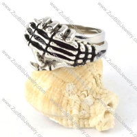 Human Skeleton Knuckle Finger Ring in Stainless Steel - r000301