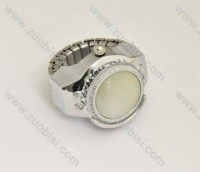 Silver Ring Watch with Pure White Stone - PW000011-1
