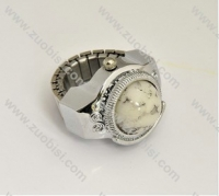 Silver Ring Watch with Ivory Stone - PW000011-2