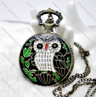 Enamel Owl Pocket Watch -PW000251