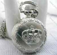 Silver Crown Pocket Watch -PW000324