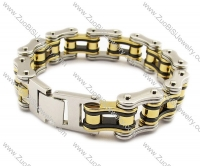 Gold and Metal color Stainless Steel Bracelet for Biker -JB010025