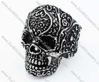 Vintage Black Stainless Steel Skull Ring for men -JR010120