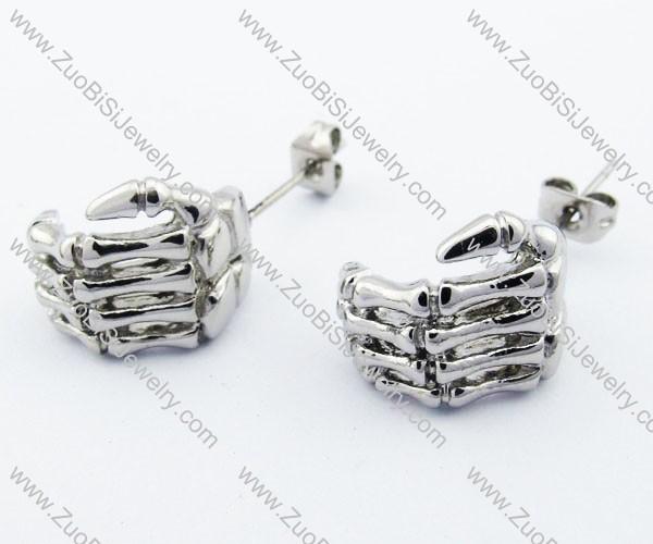Ghost Skeleton Hands Earring