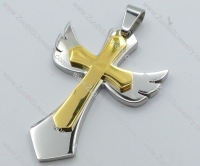 Stainless Steel Cross Pendant -JP050512