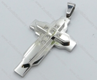 Stainless Steel Cross Pendant -JP050514