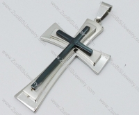 Stainless Steel Cross Pendant -JP050594