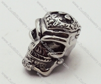 death's head Pendant in Stainless Steel is skull jewelry - JP090168