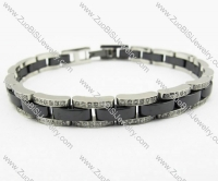 CNC Stainless Steel bracelet with 300 more rhinestones - JB270068