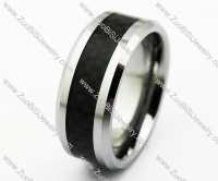 Black Carbon Fibre Tungsten Ring JR270025