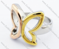 yellow gold and rose gold plating butterfly ring - JR280254