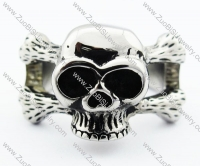 Stainless Steel Skull Ring -JR330062