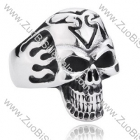 Stainless Steel Skull Ring - JR350038