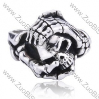 Stainless Steel Skull Ring - JR350041