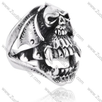 Stainless Steel Skull Ring - JR350145