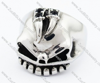 Stainless Steel Skull Ring - JR370001