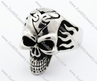 Stainless Steel Skull Ring - JR370007