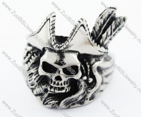 Stainless Steel Hunter Skull Ring - JR370029