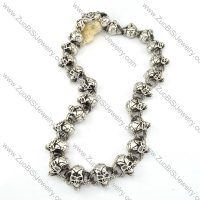 24 Skull Head Stainless Steel Necklace in Length 610mm -n000201