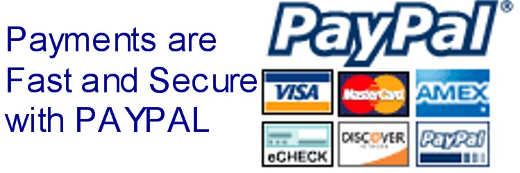 payments are fast and secure with paypal